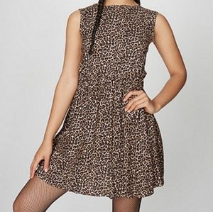 American Apparel leopard cutout dress